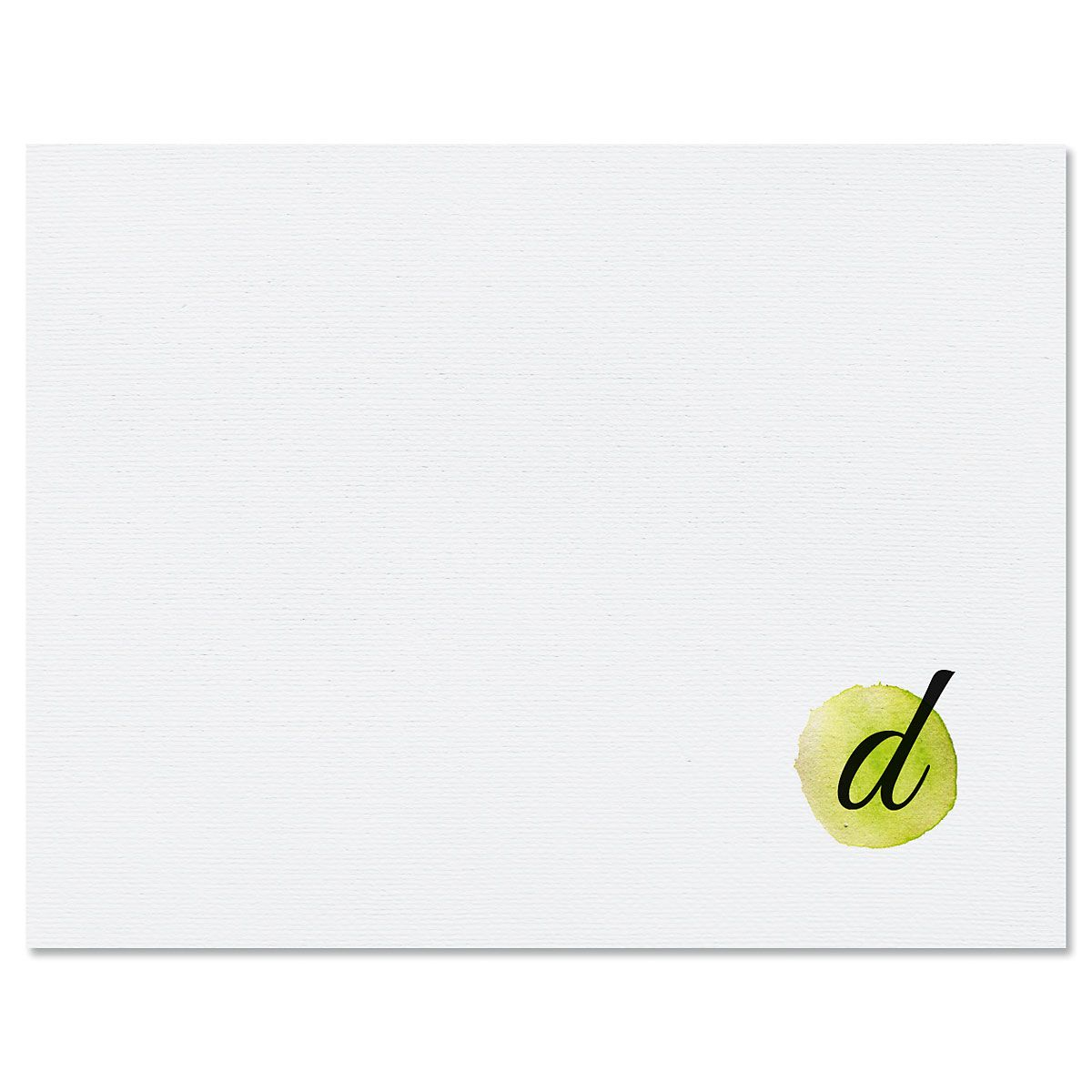 Watercolor Initial Personalized Note Cards