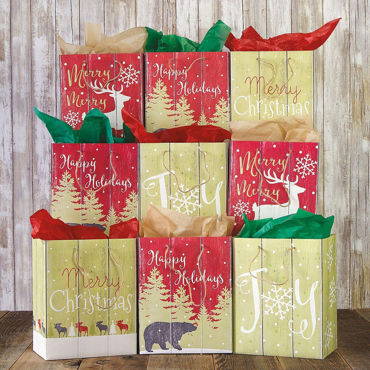 Christmas Woodland Gift Bags