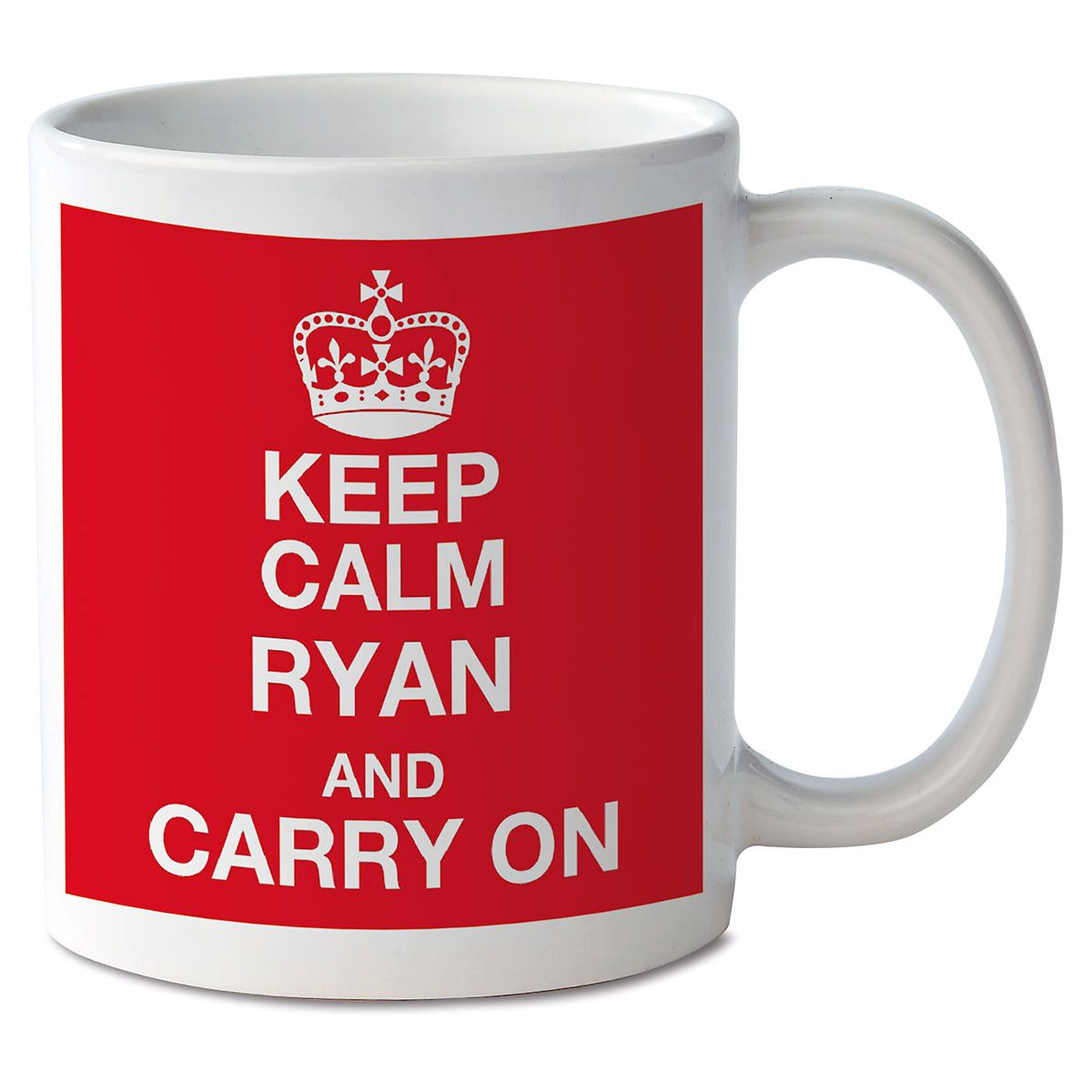 Keep Calm and Carry On Personalized Mug