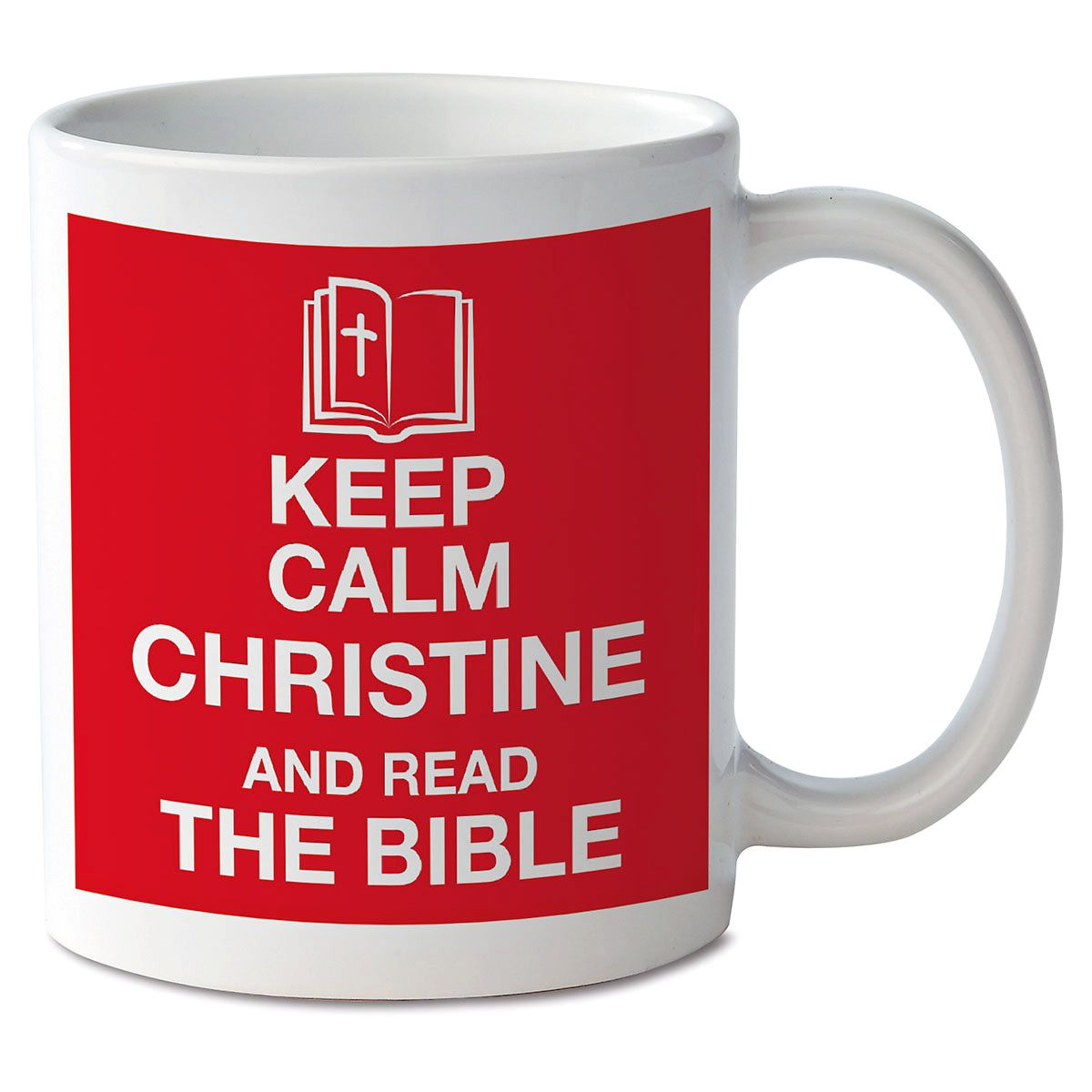 Keep Calm and Read the Bible Personalized Mug