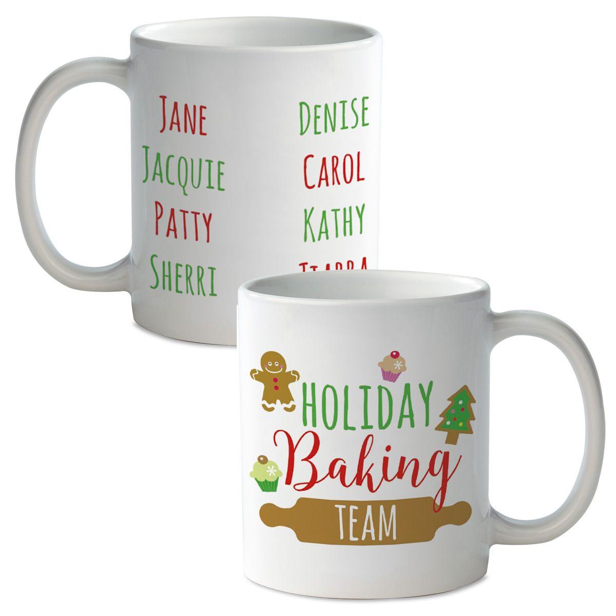 Holiday Baking Team Personalized Mug