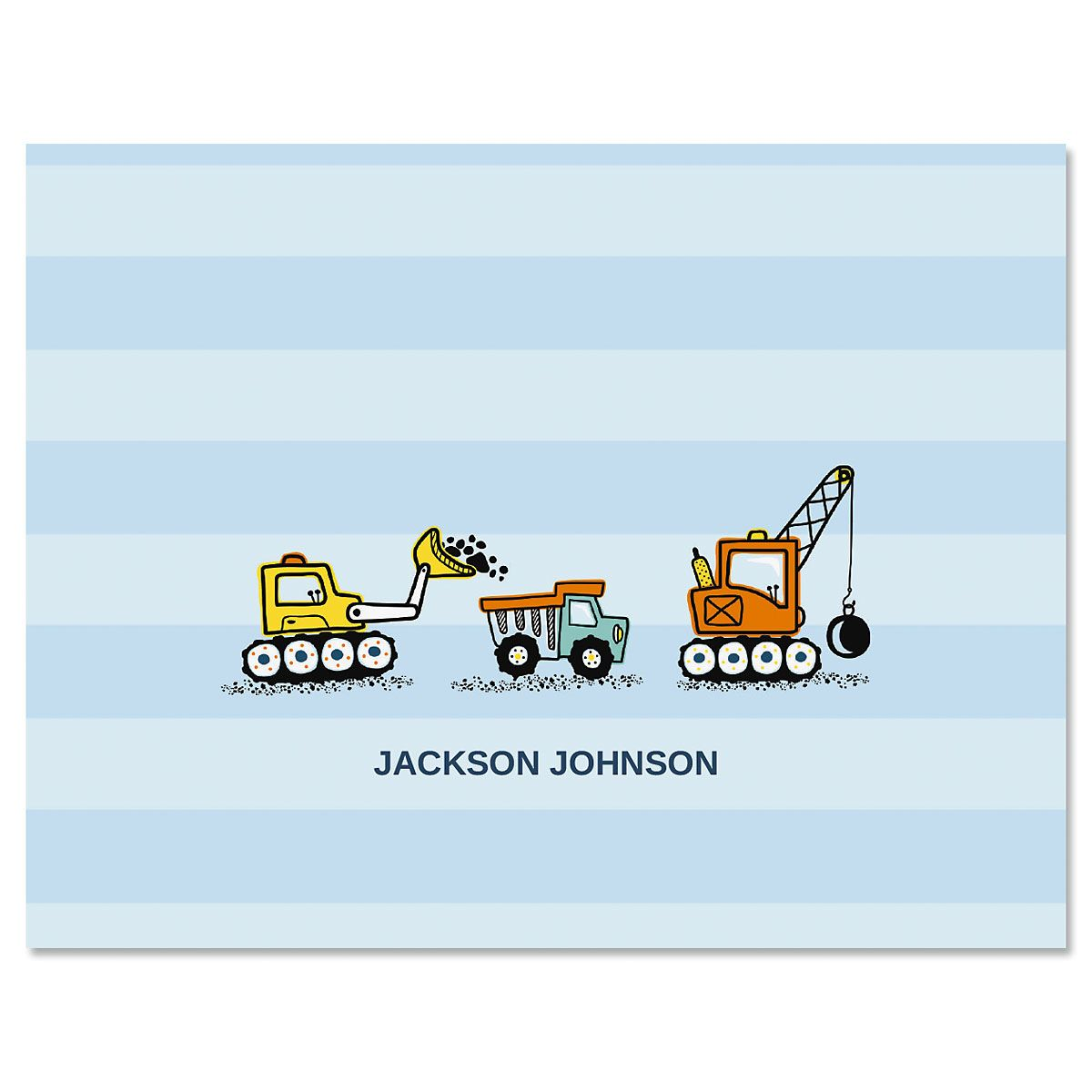 Trucks Personalized Note Cards