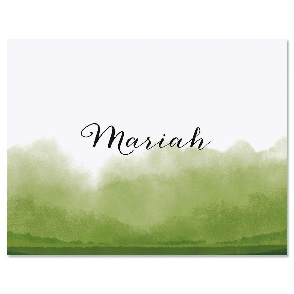 Dipped Watercolor Personalized Note Cards