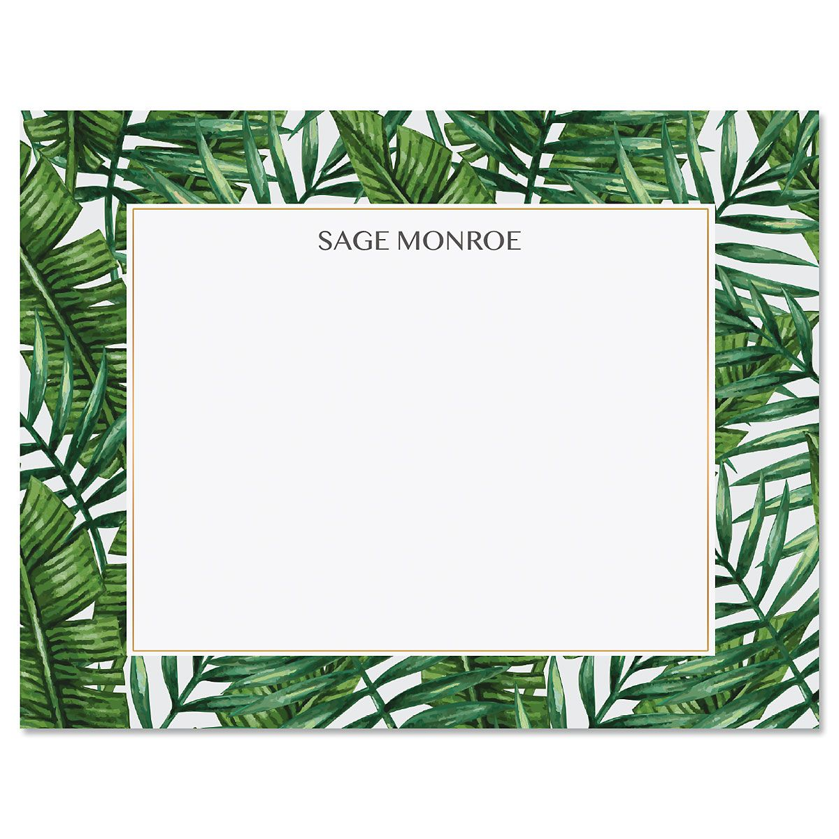 Tropical Wishes Personalized Note Cards