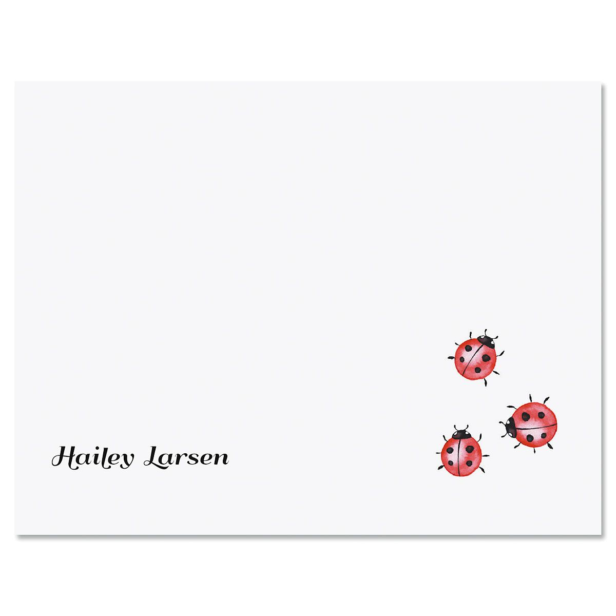 Three Little Ladybugs Personalized Note Cards