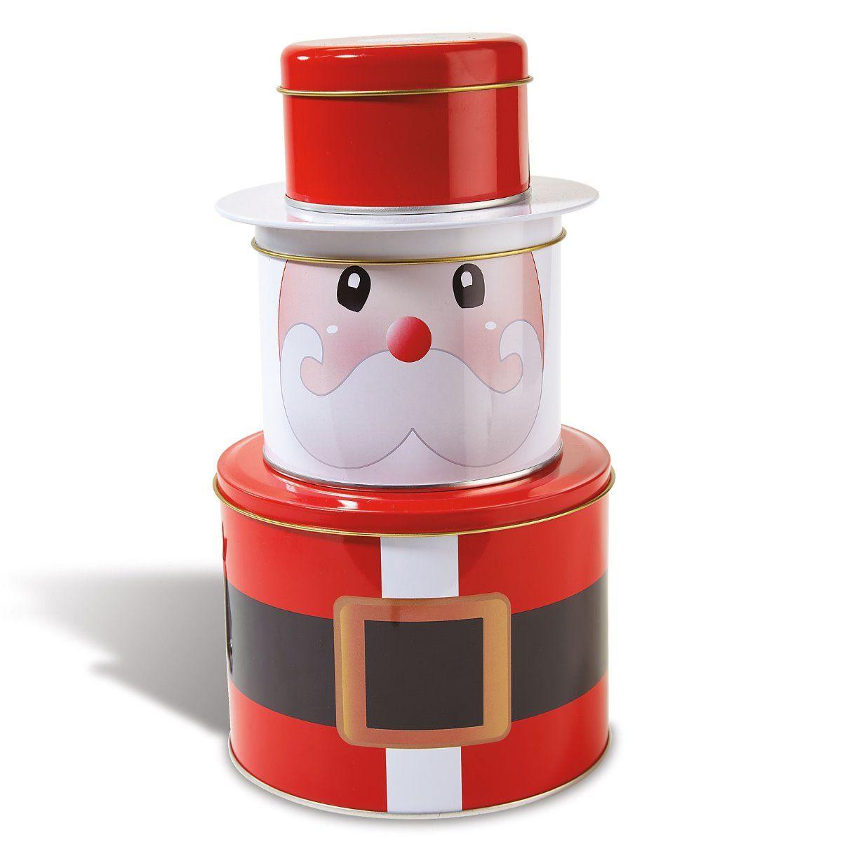 Santa Christmas Stacking Tins