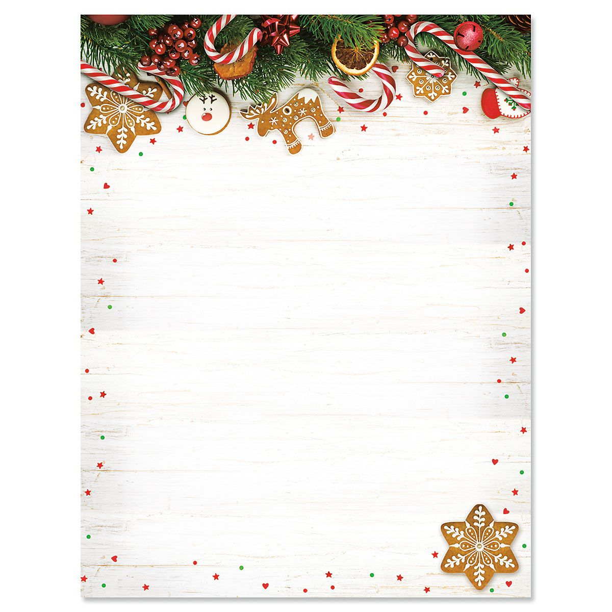 Candy Canes Christmas Letter Papers