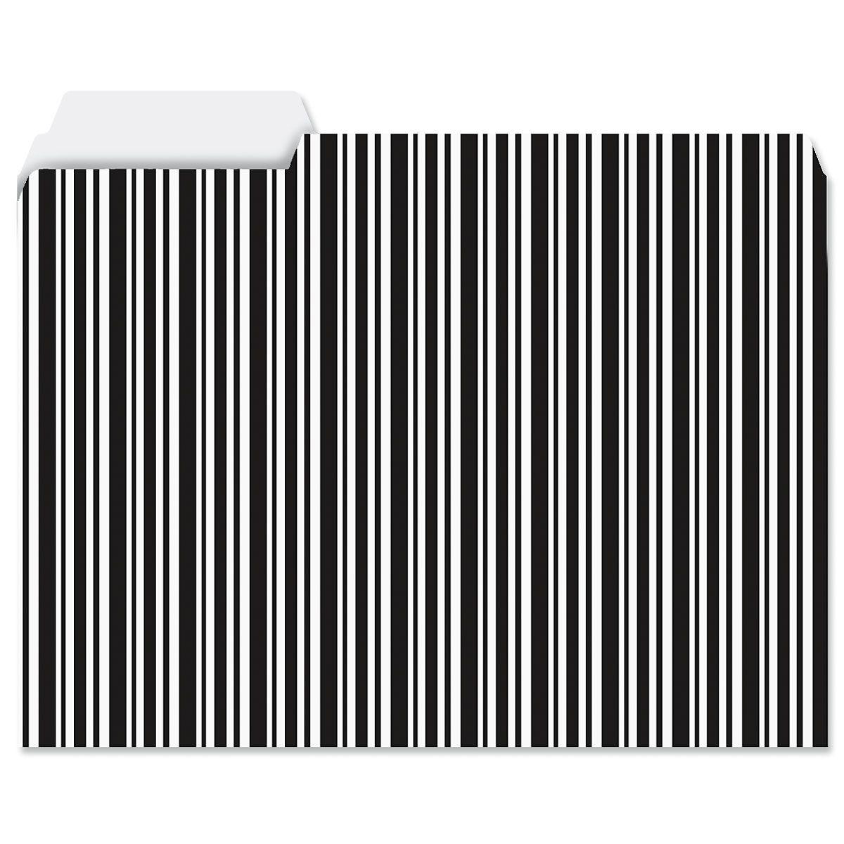 Elegant Black File Folders Value Pack