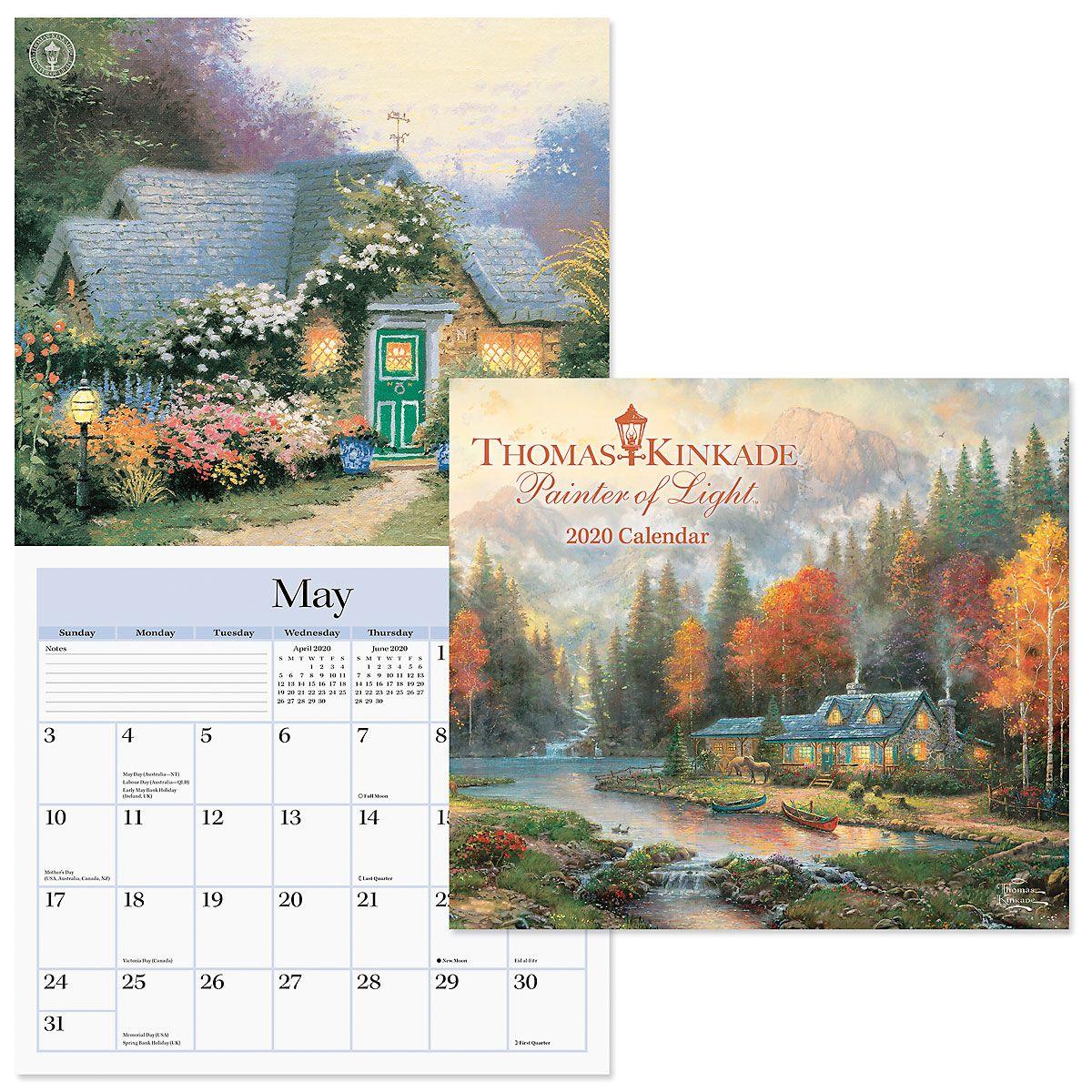 2020 Thomas Kinkade Wall Calendar