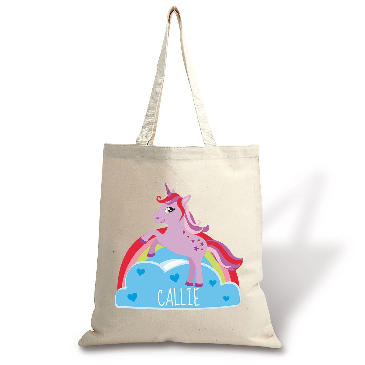 Unicorn Personalized Canvas Tote