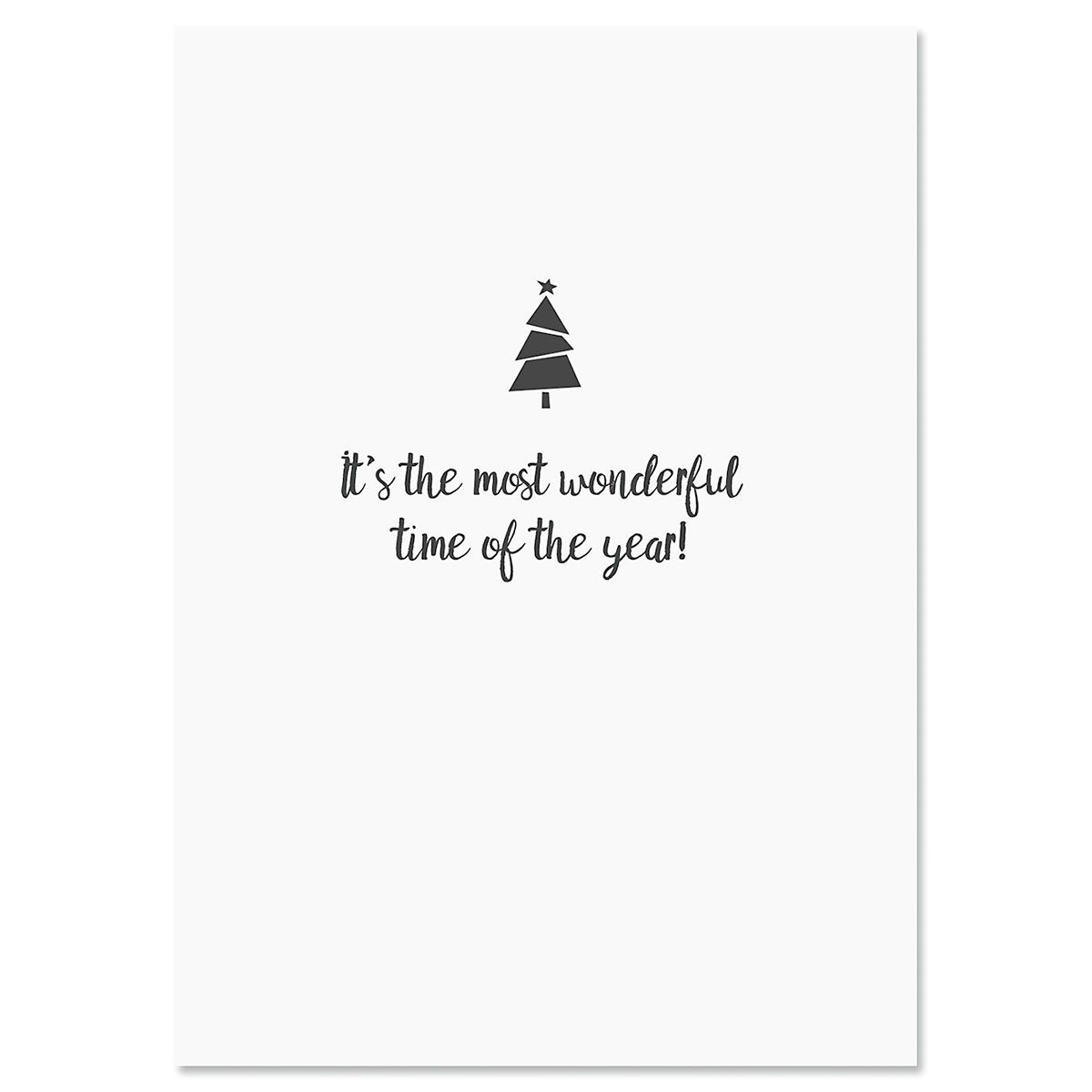 Little Plaid Christmas Tree Christmas Cards