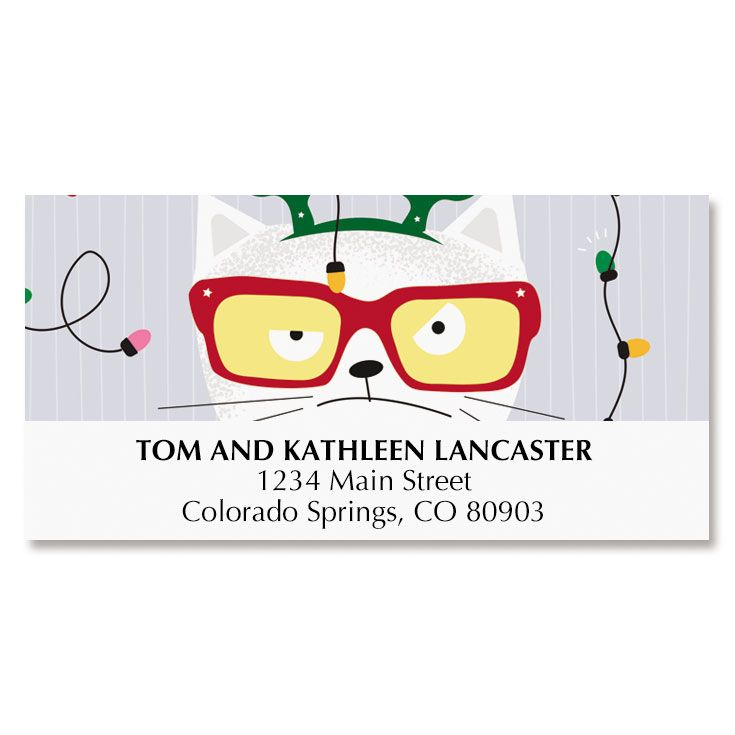 Tangled Cat Deluxe Address Labels