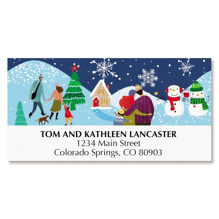 Holiday Village Deluxe Address Labels