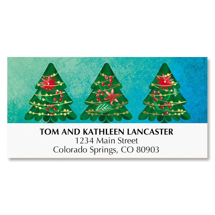 Ornate Tree Deluxe Address Labels