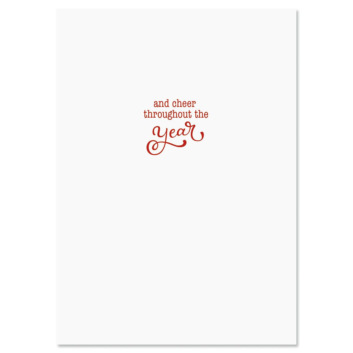 Birch Forest Deluxe Embossed Christmas Cards