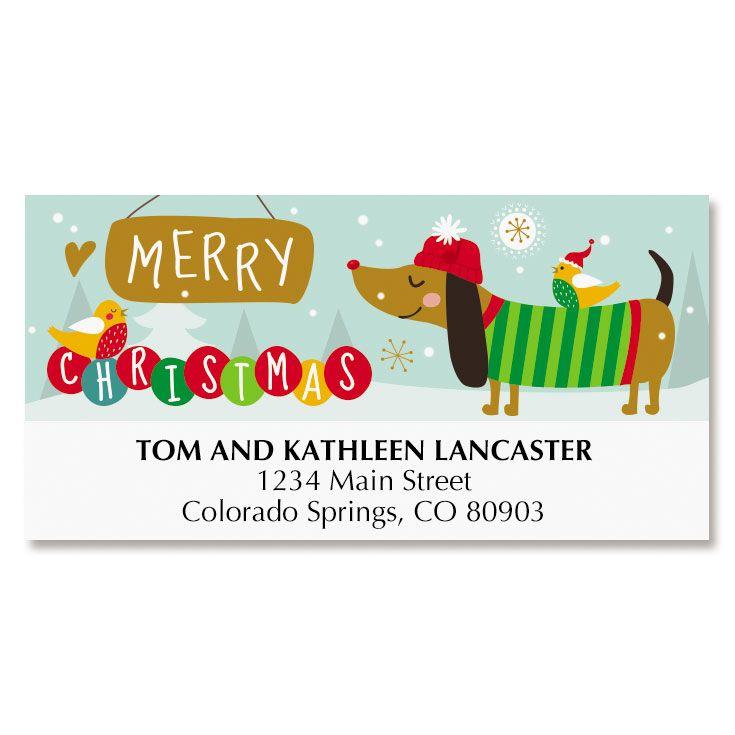 Reindeer Christmas Deluxe Address Labels