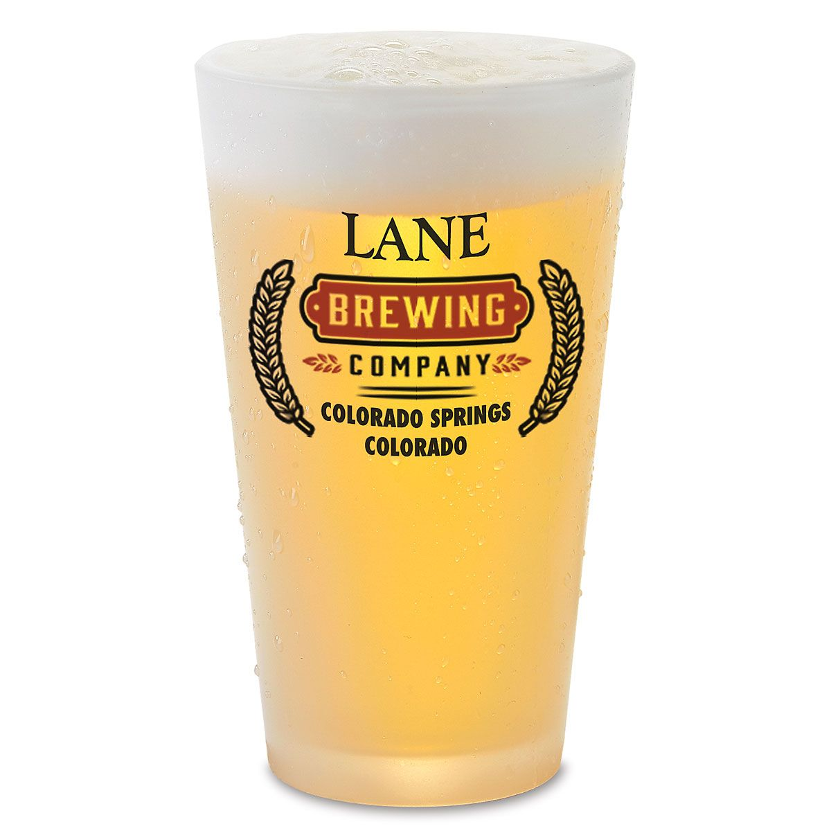 Home Town Brewing Personalized Pint Beer Glass