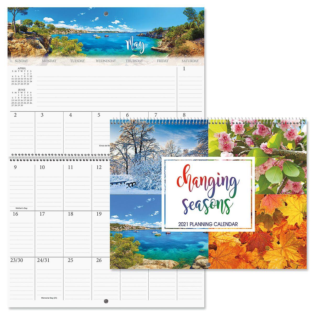 2021 Changing Seasons Big Grid Planning Calendar