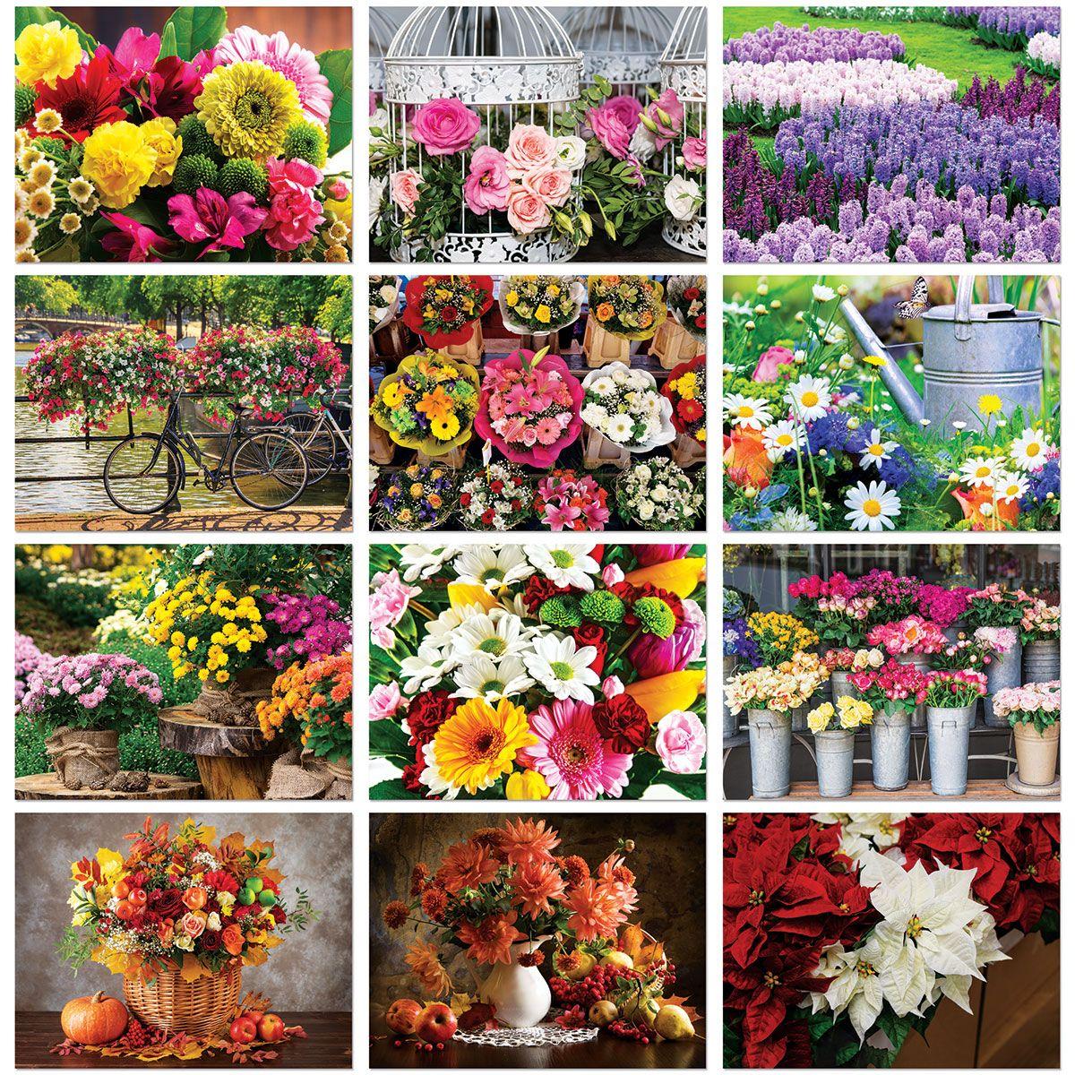 2021 A Year of Flowers Wall Calendar