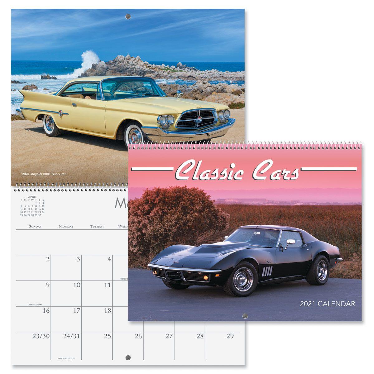 2021 Classic Cars Wall Calendar