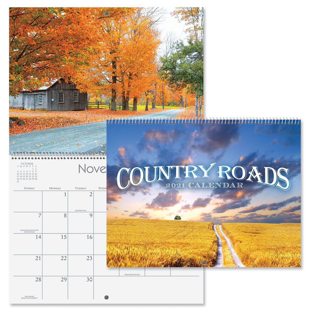2021 Country Roads Wall Calendar