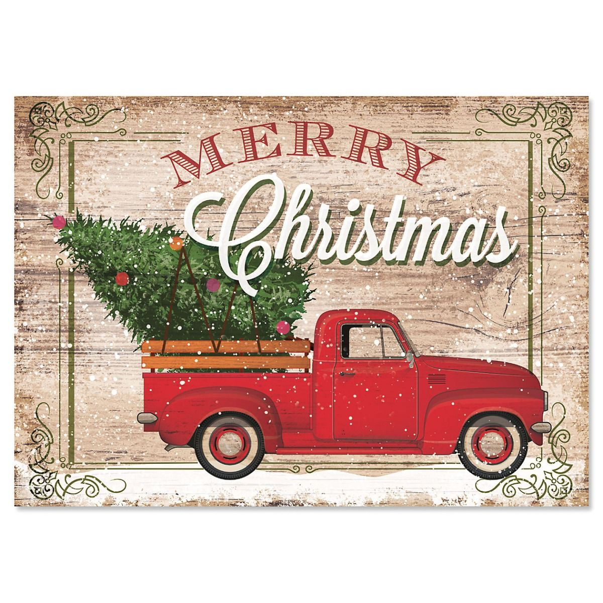 Red Truck Christmas Cards