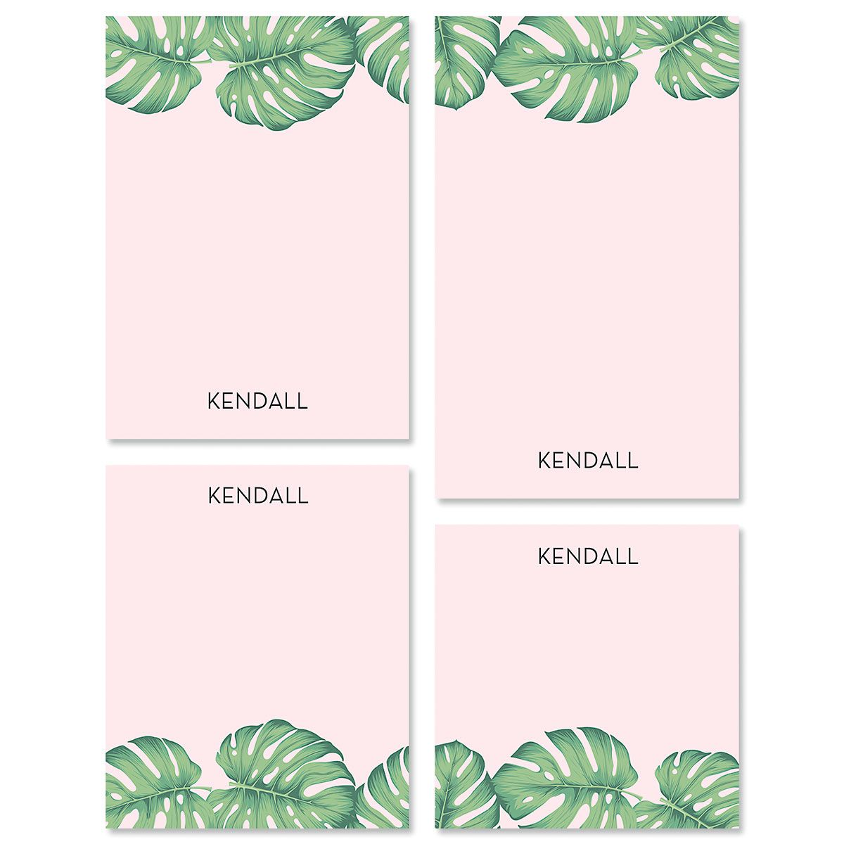 Pink Palms Personalized Notepad Sets