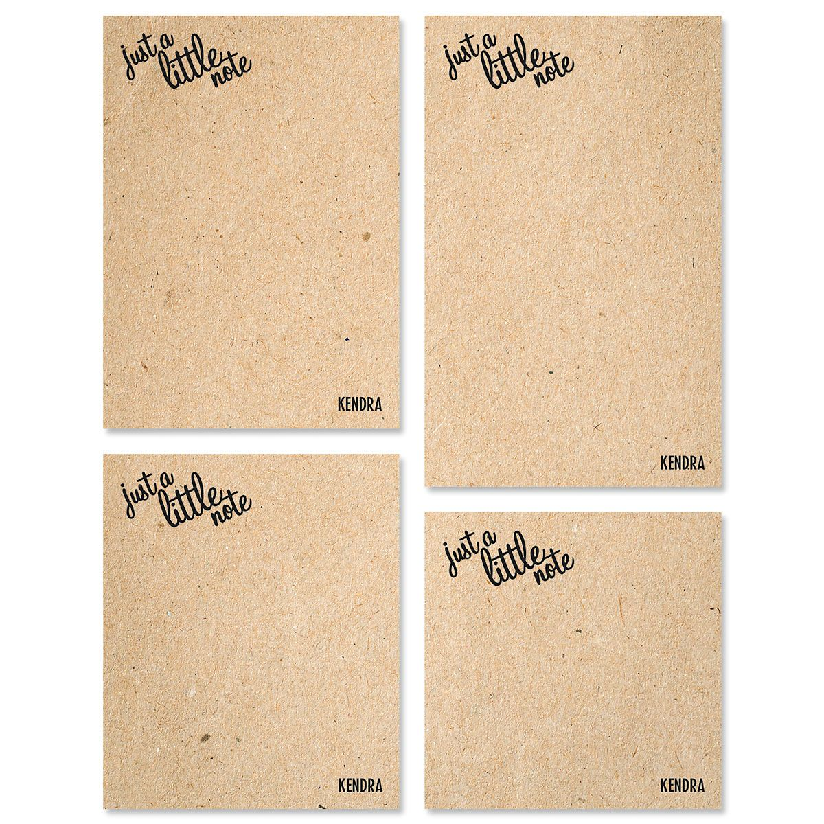 Just A Note Personalized Notepad Sets