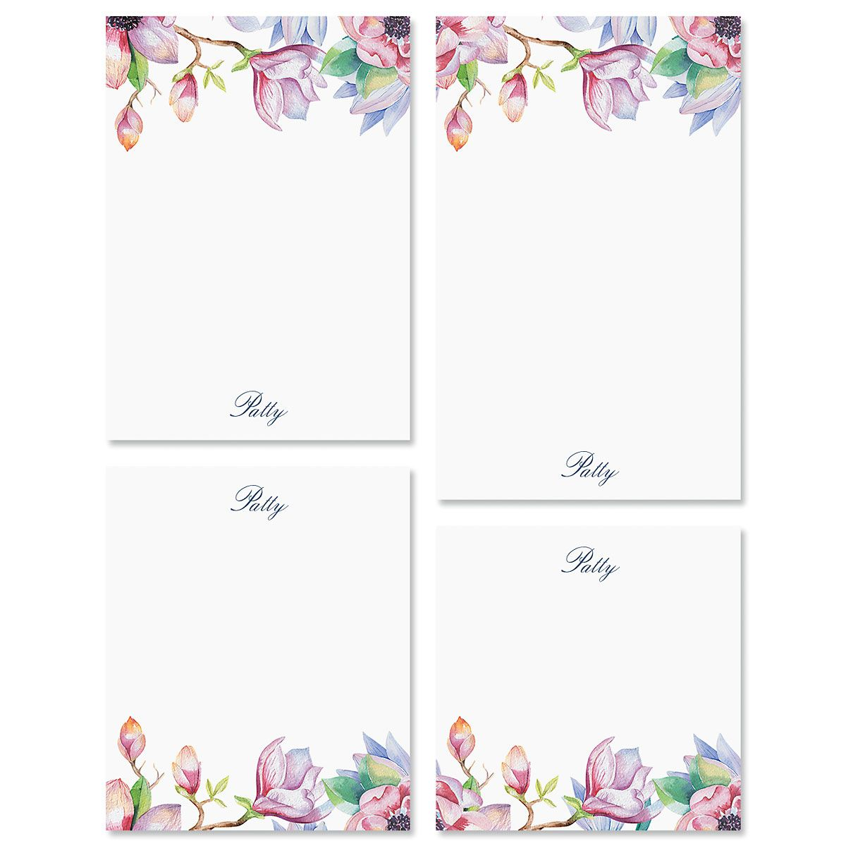 Magnolia Personalized Notepad Sets