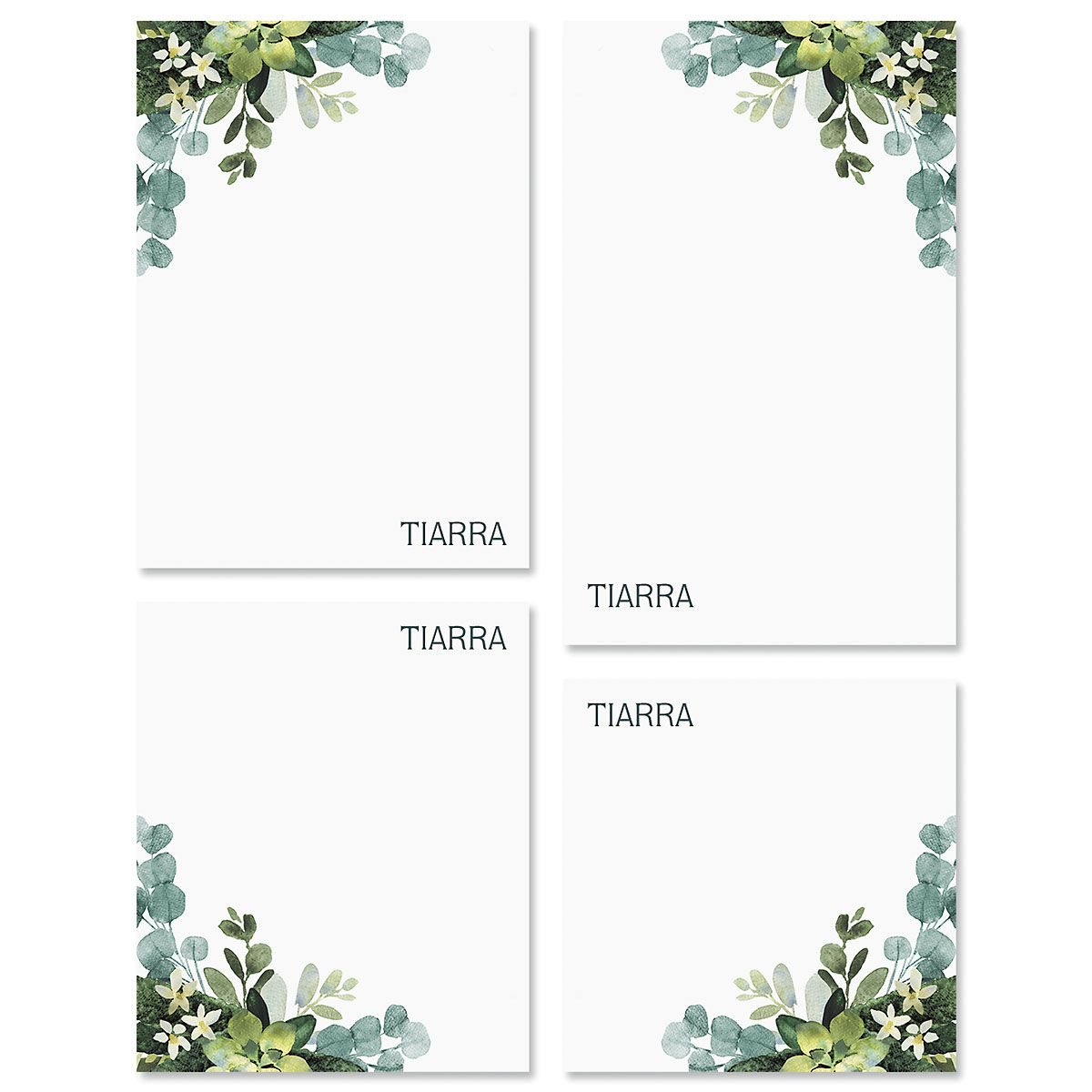 Olive Bloom Personalized Notepad Sets