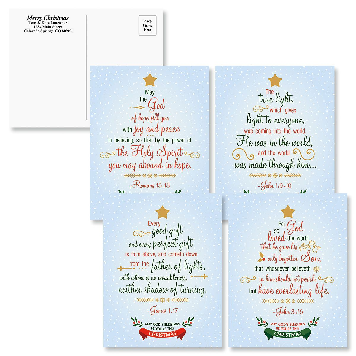 Faith Holiday Postcards