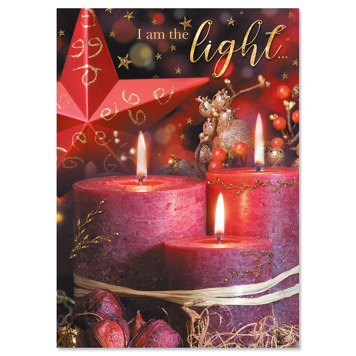 Light of God Religious Christmas Cards