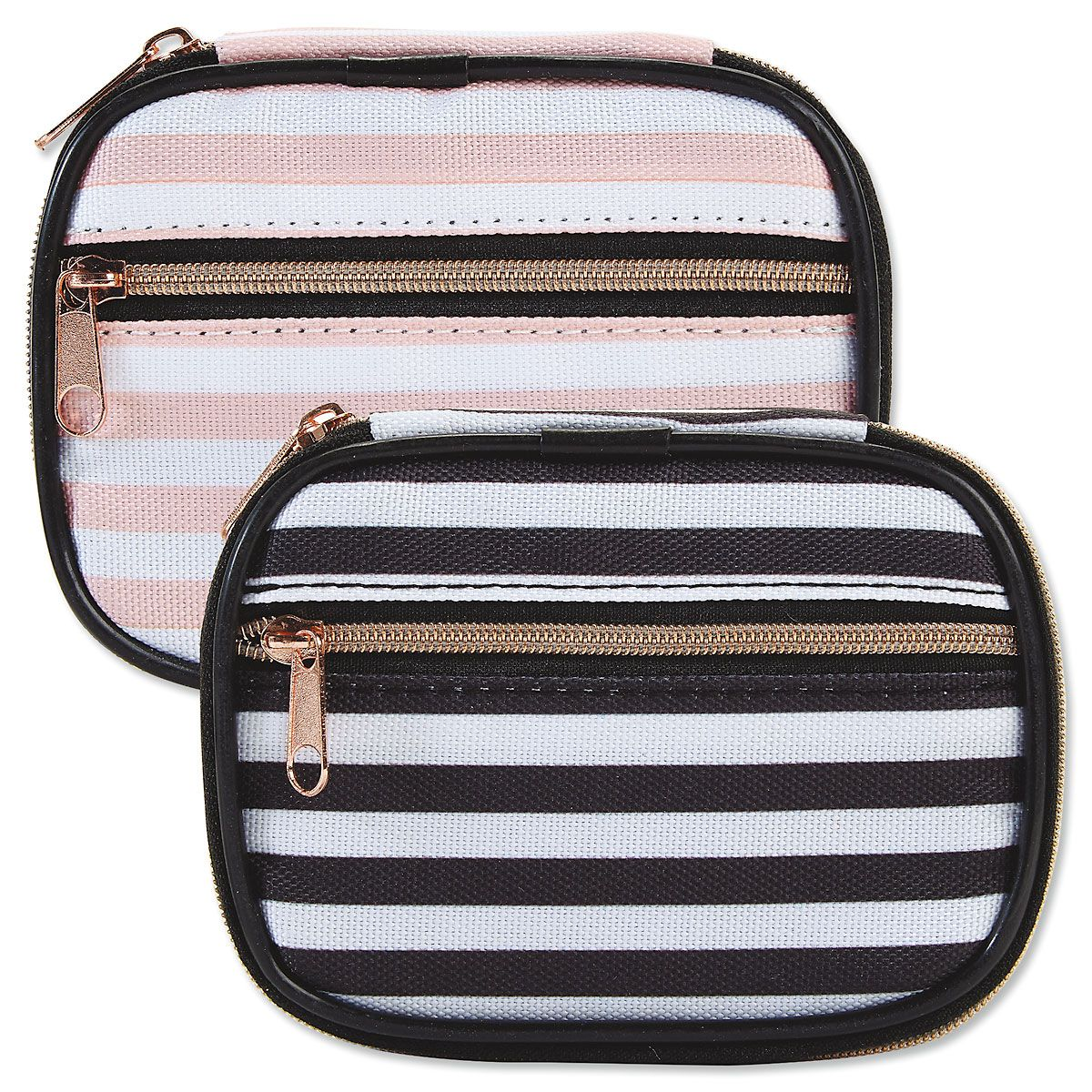 Bold Stripe Travel Pill Case