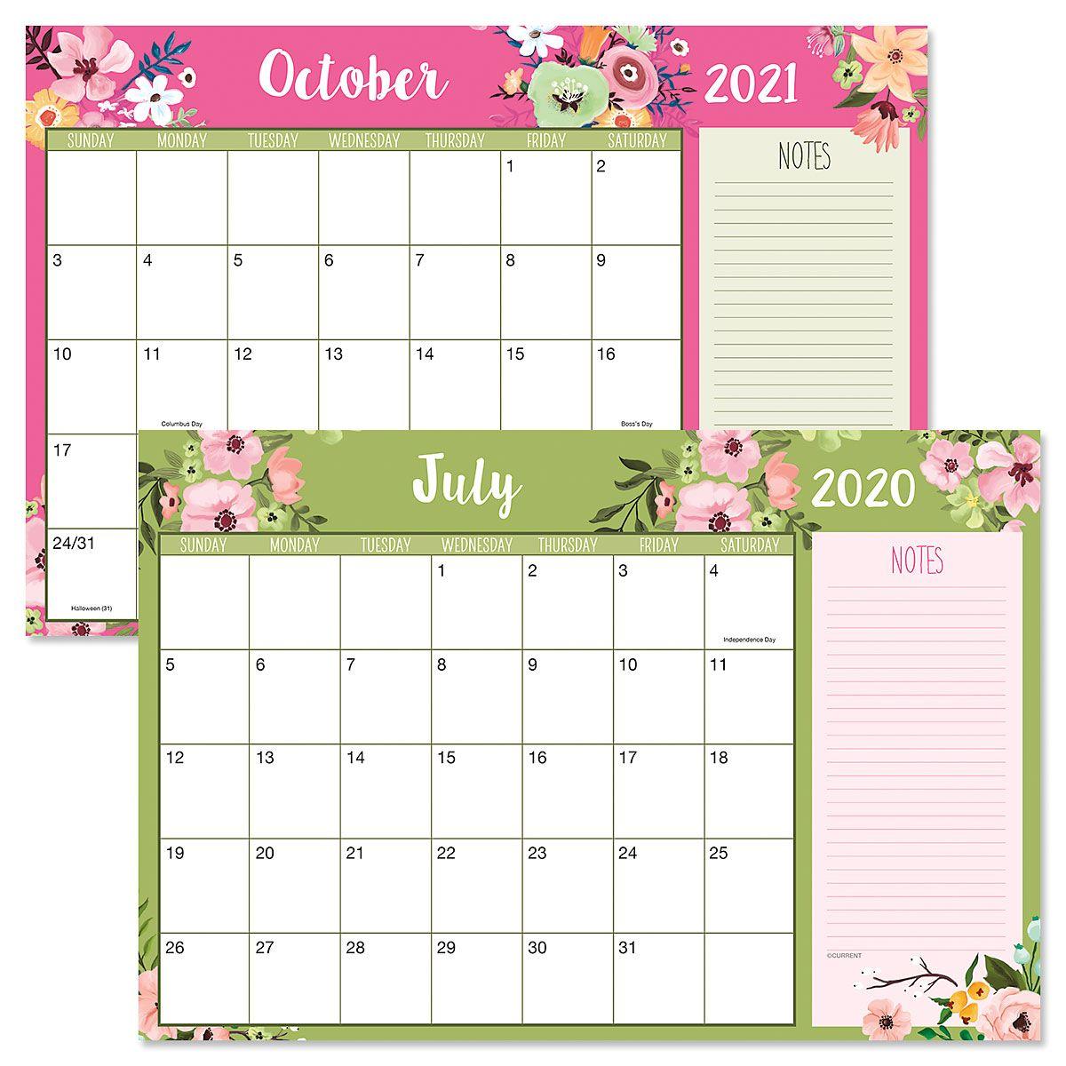 2020-2021 Floral Fantasy Calendar Pad | Current Catalog