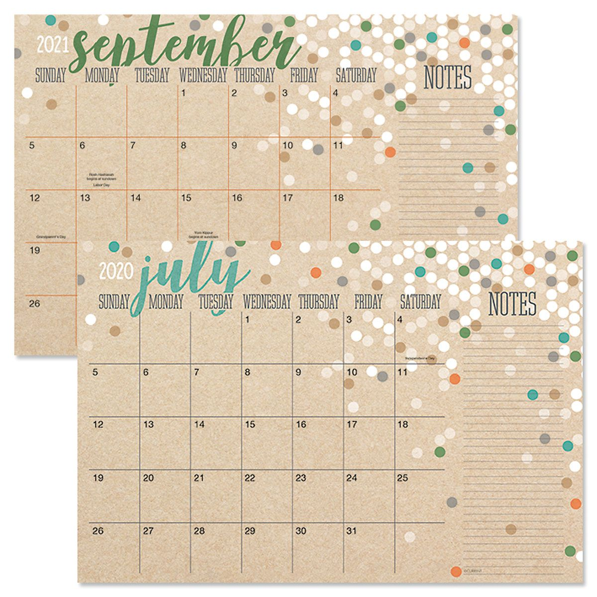 2020-2021 Kraft Calendar Pad