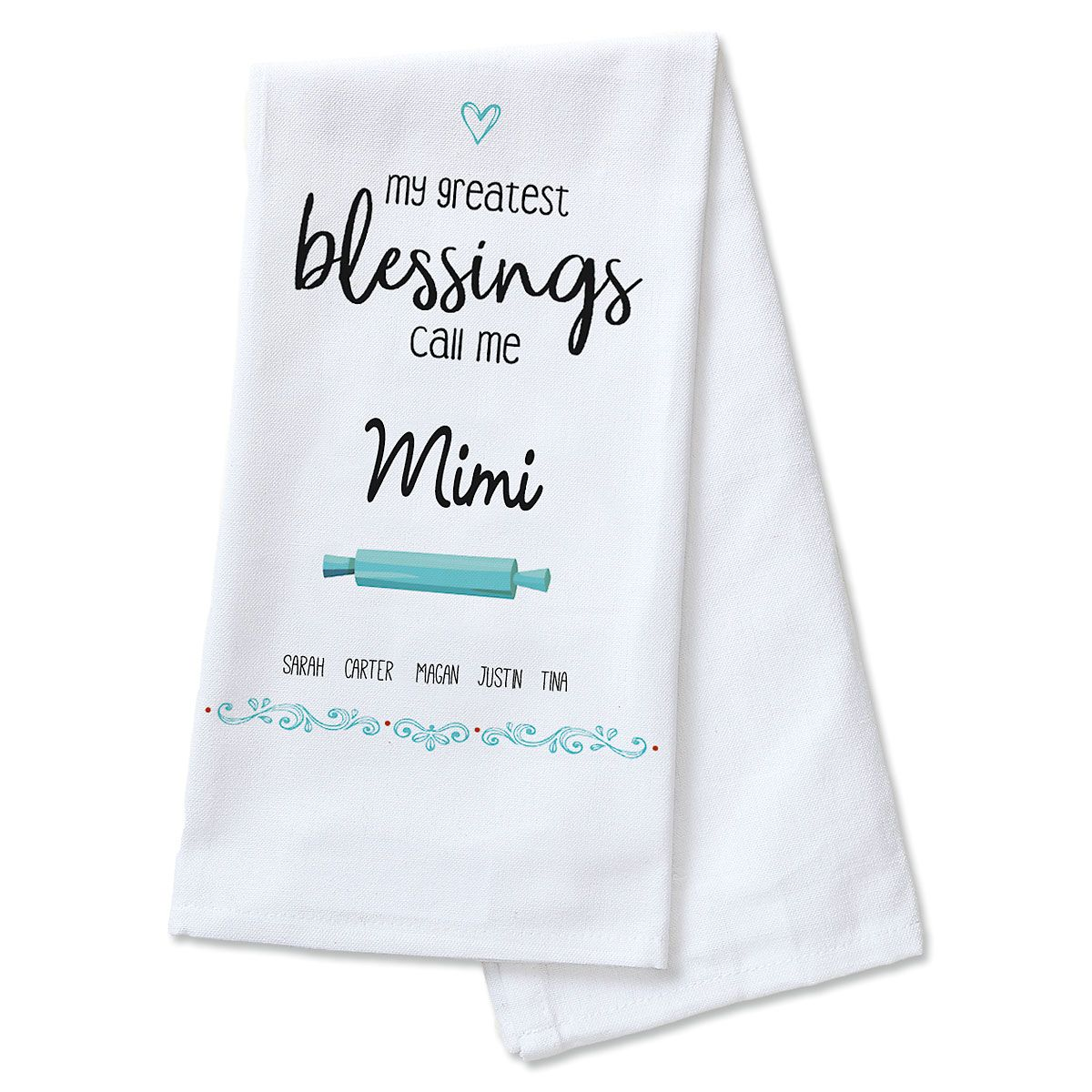 Greatest Blessings Personalized Kitchen Towel