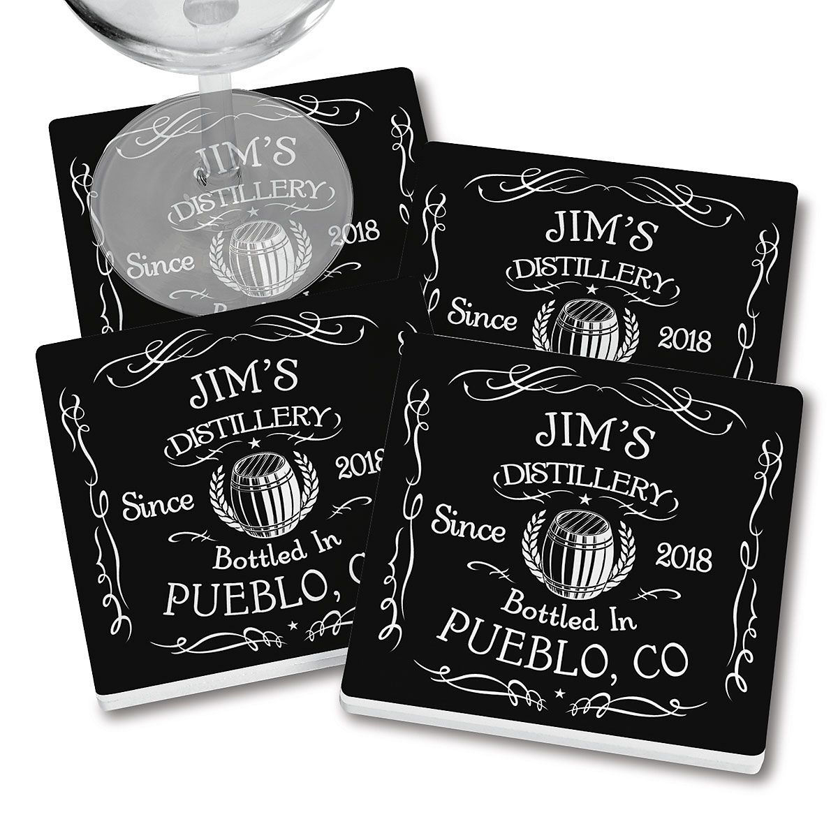 Distillery Personalized Ceramic Coasters