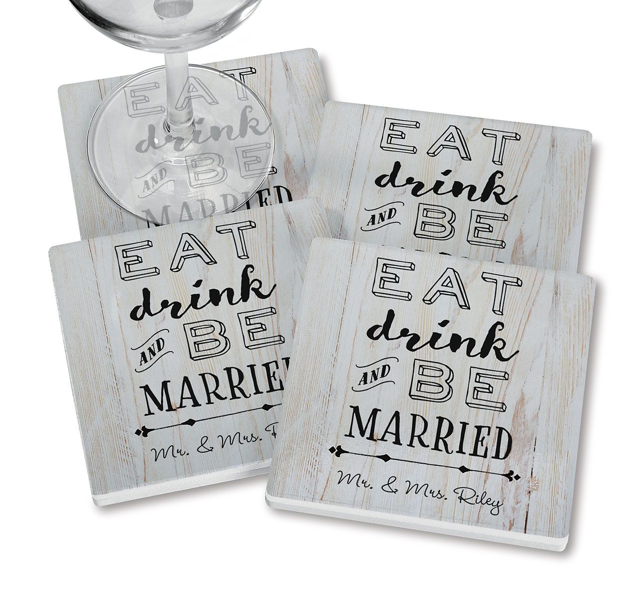Be Married Personalized Ceramic Coasters