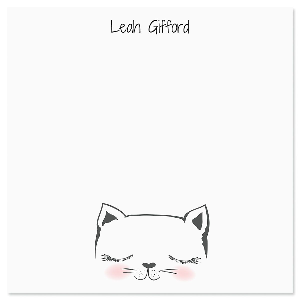 Kitty Ears Personalized Note Sheets in a Cube