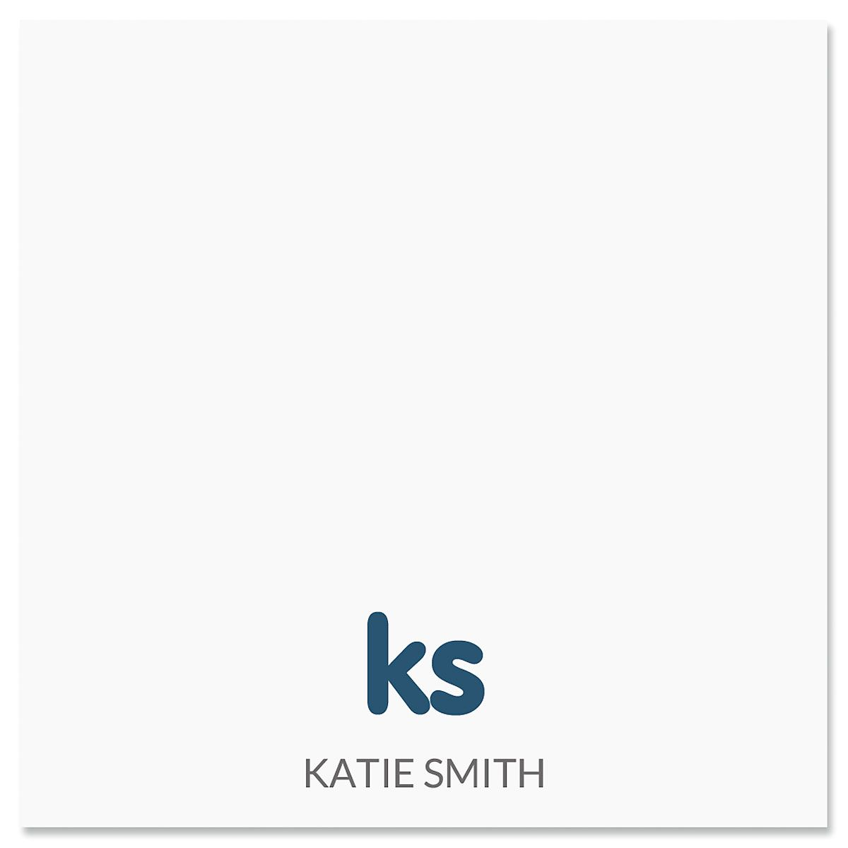 Sweet Monogram Personalized Note Sheets in a Cube