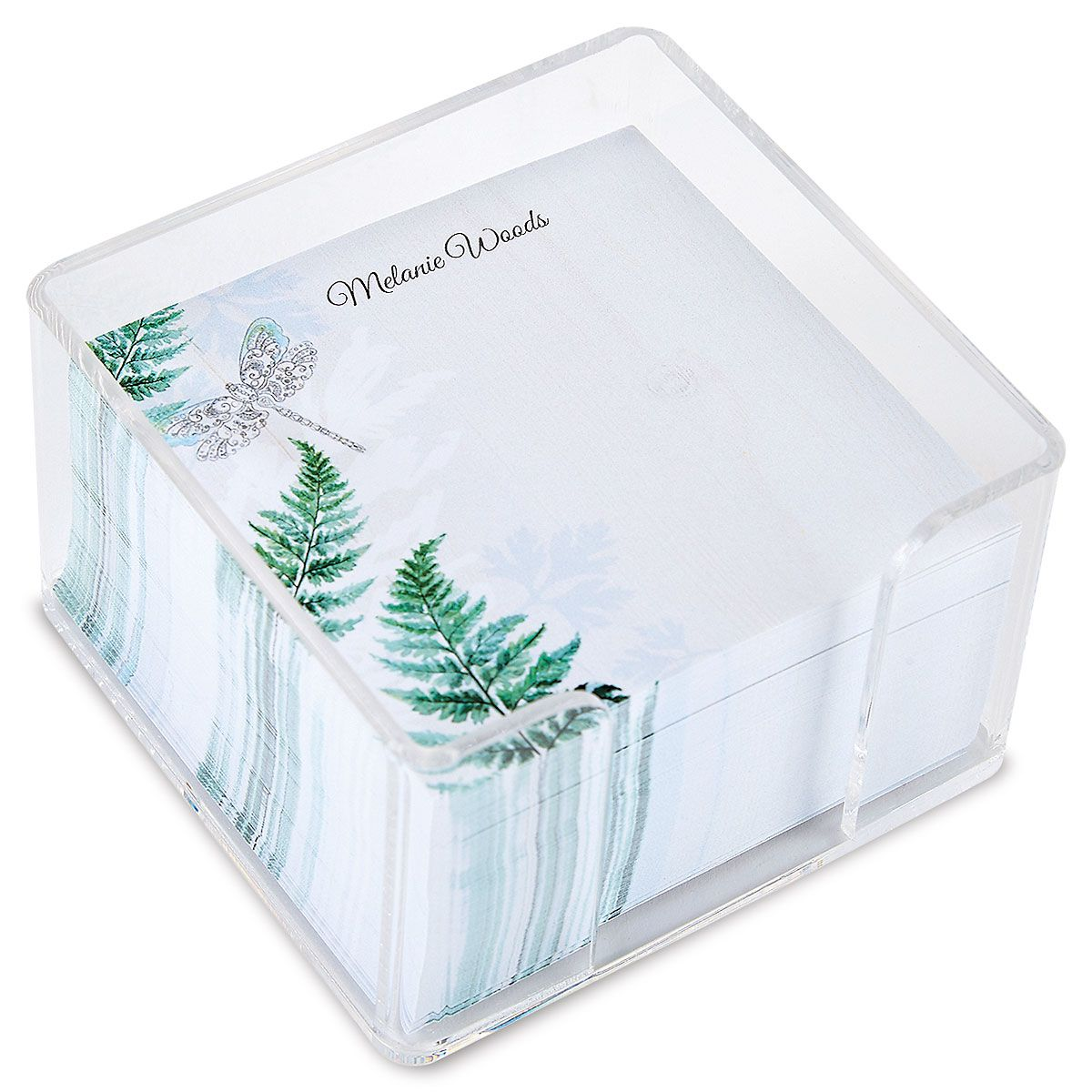 Forest Impressions Personalized Note Sheets in a Cube
