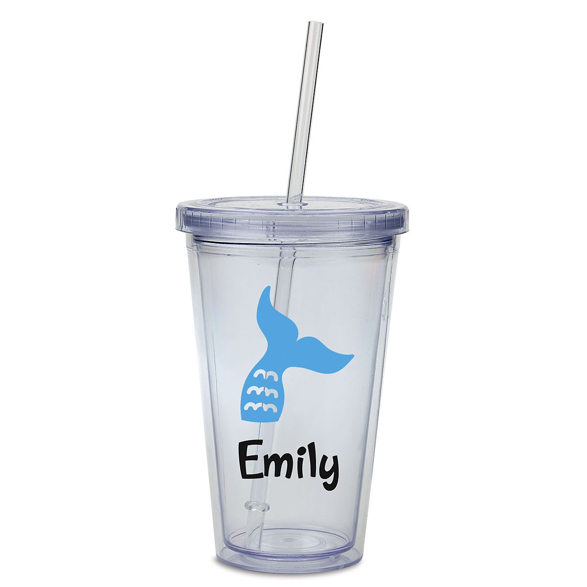 Mermaid Acrylic Personalized Beverage Cup