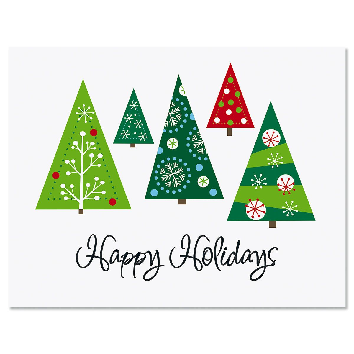 Holiday Tree Note Cards - BOGO