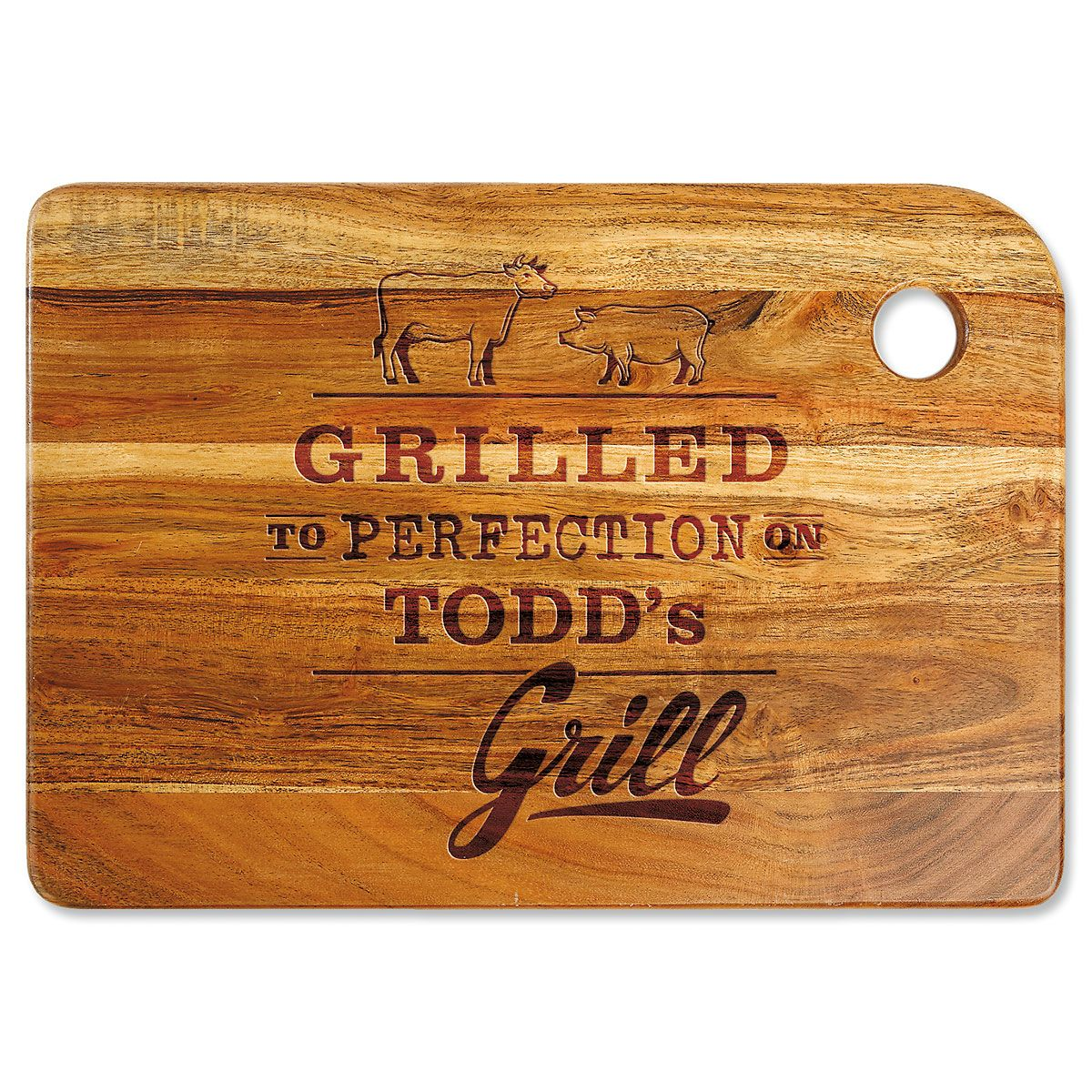 Grilled to Perfection Engraved Wood Cutting Board
