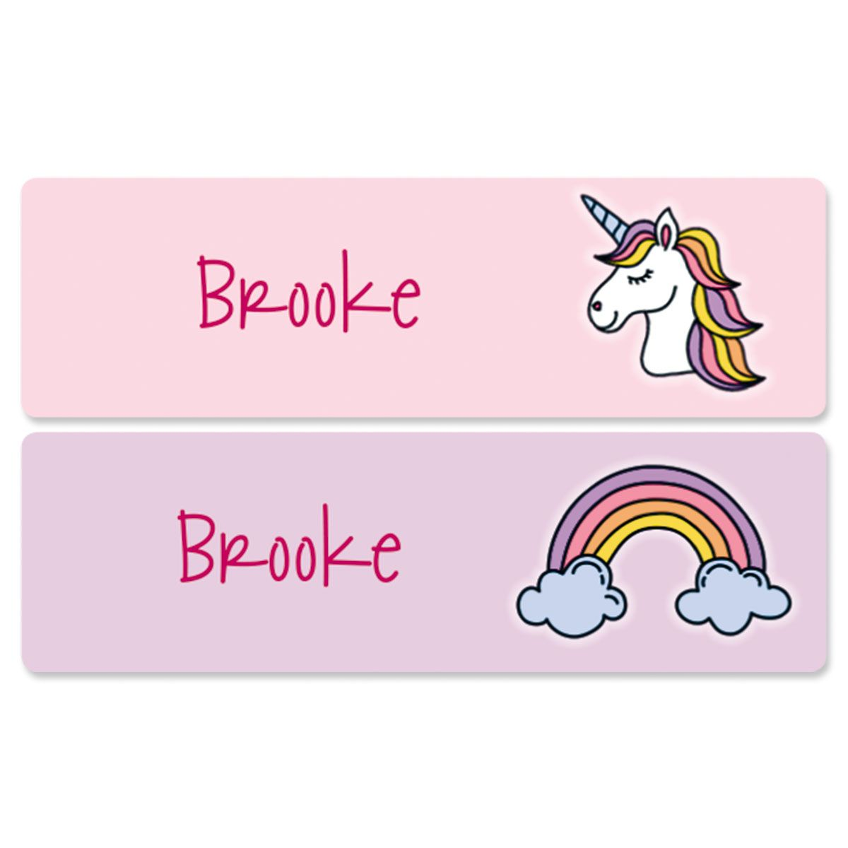 Personalized Unicorn Name Stickers
