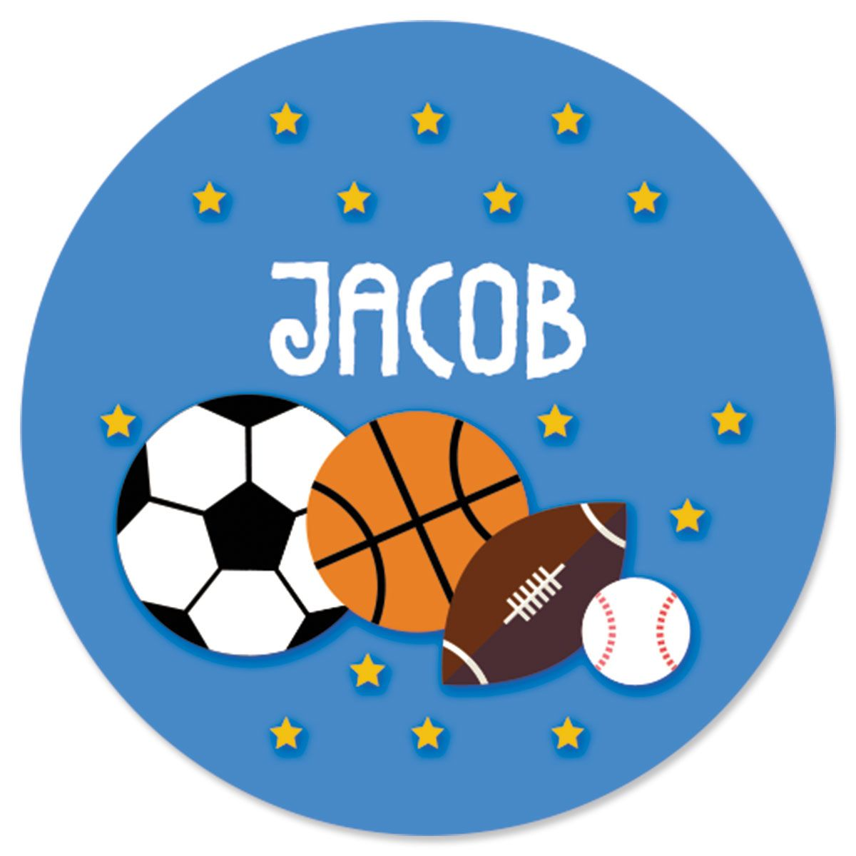 Personalized All Sports Stickers