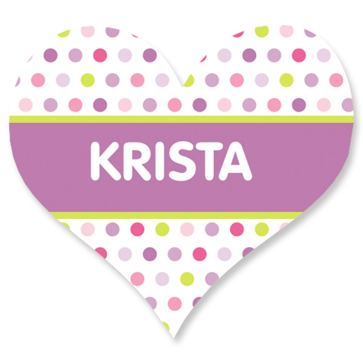 Personalized Polka Dot Heart Stickers