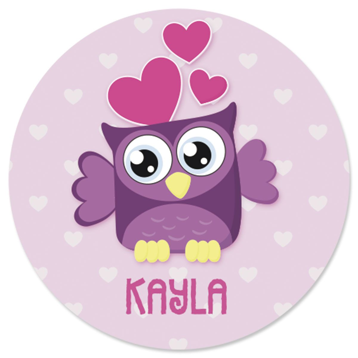 Personalized Owls Stickers