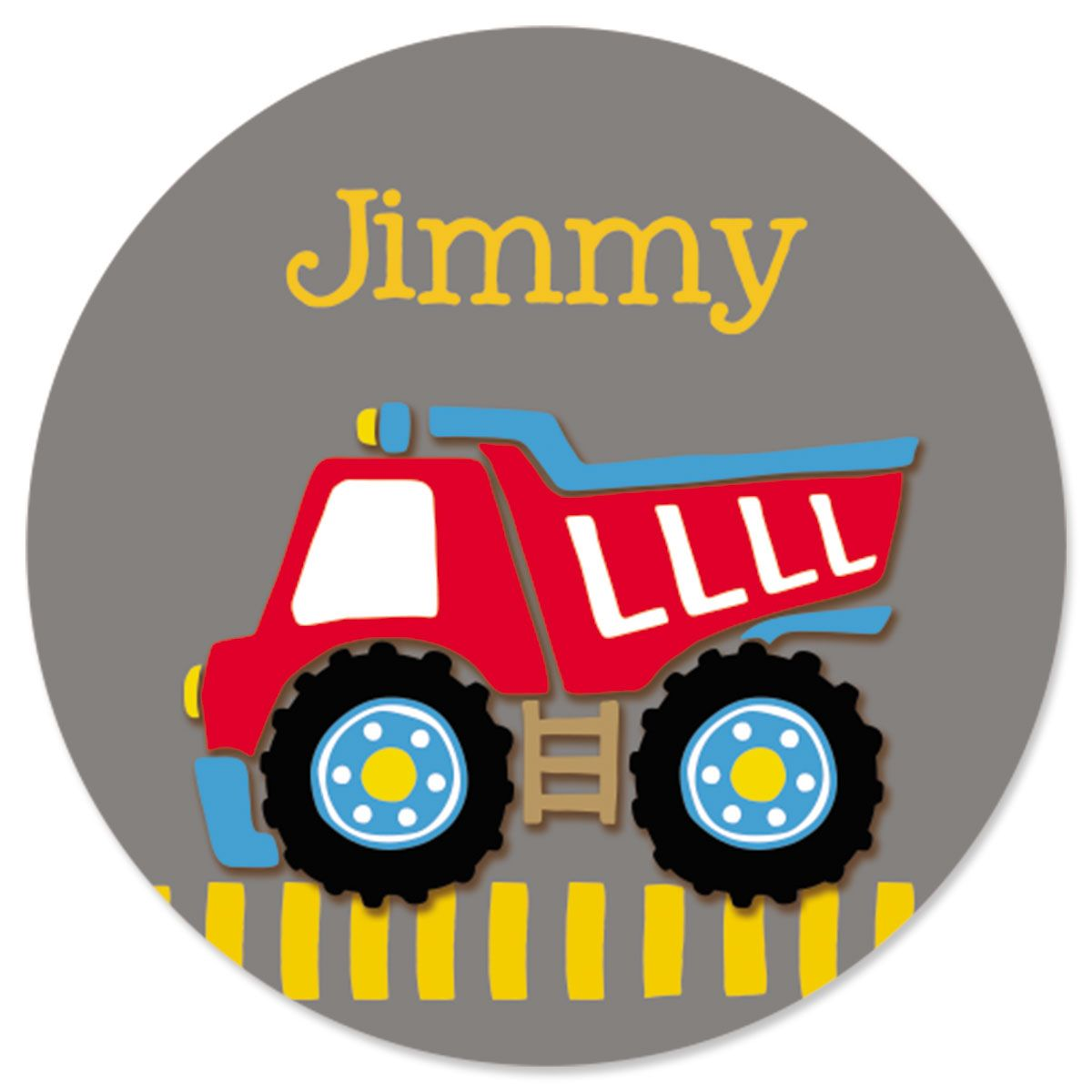 Personalized Red Dump Truck Stickers