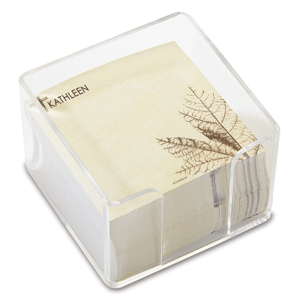 Cross Personalized Note Sheets in a Cube